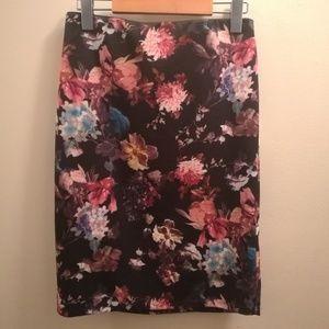 Carmen Marc Valvo Floral Skirt